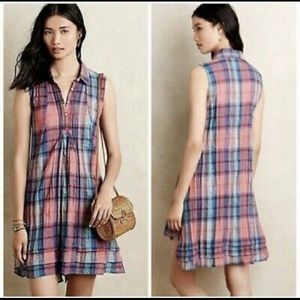 Anthropologie Isabella Sinclair Plaid Dress